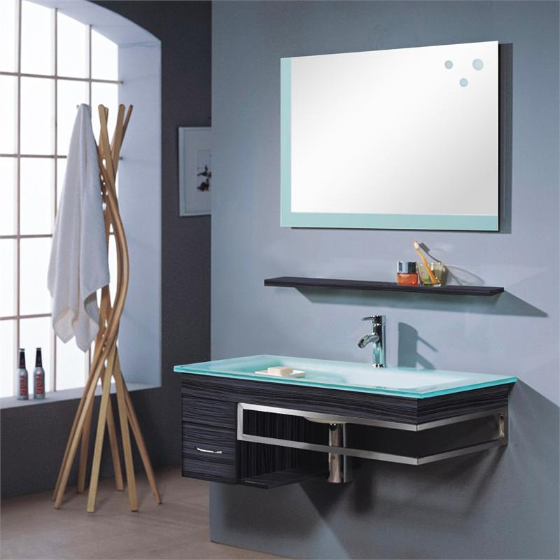 Arredo bagno mobile smile con lavabo mensola e specchio for Mensole design on line