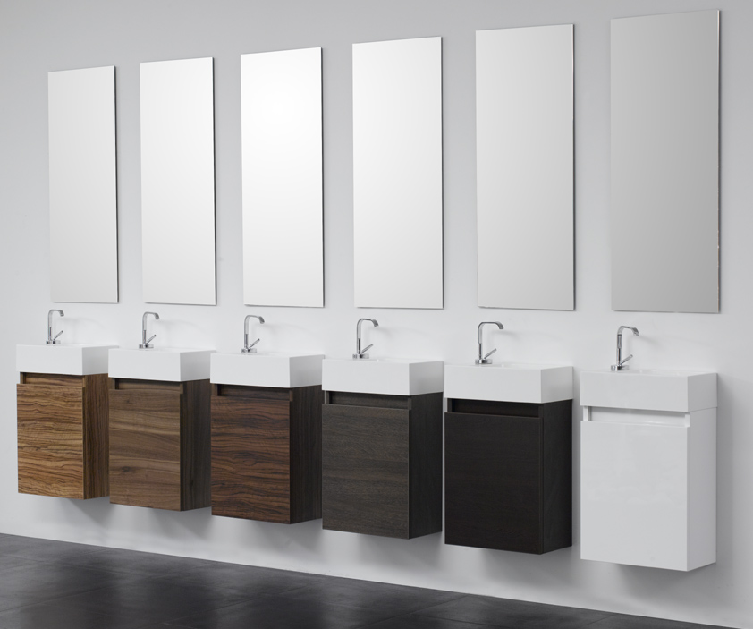 arredo bagno mobile minimal 40 cm con lavabo. Black Bedroom Furniture Sets. Home Design Ideas